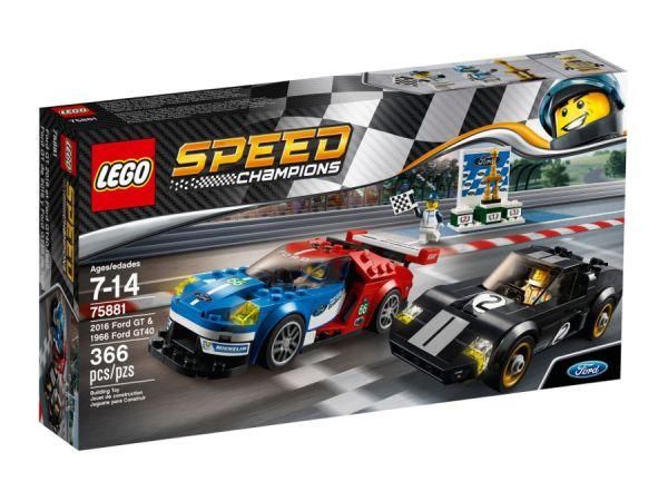 ЛЕГО Спийд Шампиони - 2016 Форд GT срещу 1966 Форд GT40 75881