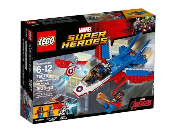 ЛЕГО Супер Хироус - Капитан Америка – реактивно преследване 76076