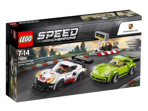 ЛЕГО Спийд Шампиони -  Порше 911 RSR и Порше 911 Турбо 3.0 75888