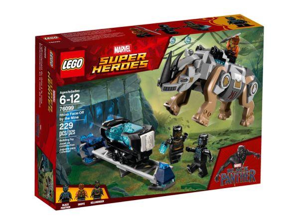 ЛЕГО Супер Хироус - Битка с носорог пред мината 76099