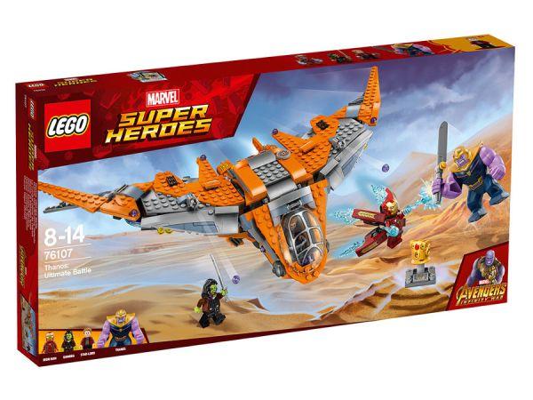 ЛЕГО Супер Хироус - Танос: Върховната битка 76107