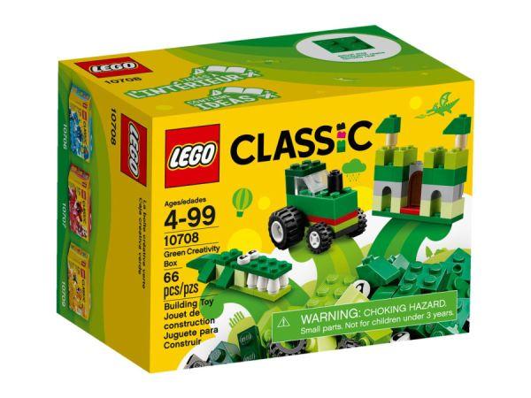 ЛЕГО КЛАСИК - Зелена кутия за творчество 10708